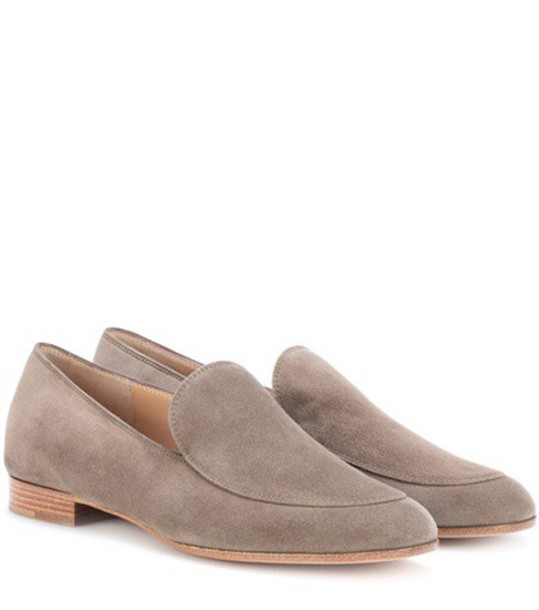 Gianvito Rossi loafers suede beige shoes
