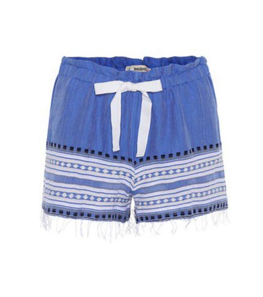 LemLem shorts cotton blue