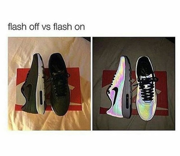 66a97aadba8b shoes nike holographic shoes glow in the dark air max air max light up  flash glow