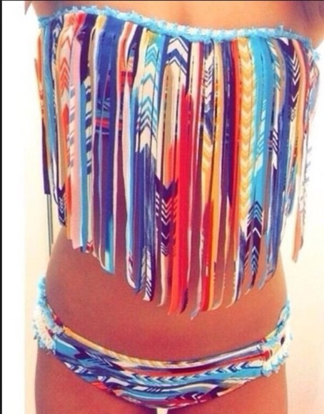 swimwear colorful patterns cute aztec