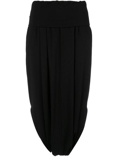 Giuliana Romanno pants drop crotch pants women spandex black