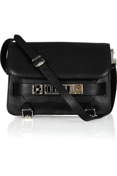 Proenza Schouler|The PS11 Classic textured-leather shoulder bag|NET-A-PORTER.COM