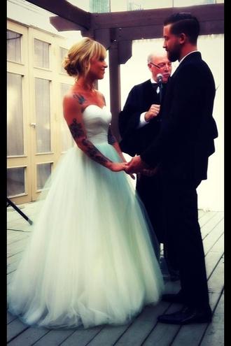 wedding clothes ballgown cinderella hipster wedding