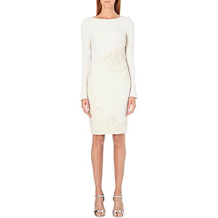 ELIE SAAB - Embroidered crepe dress | Selfridges.com