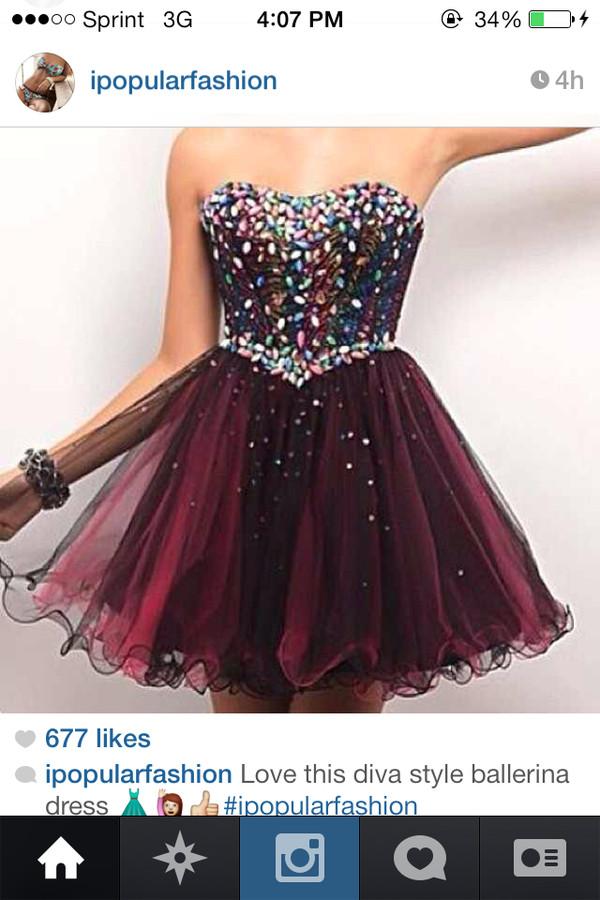 dress diva style marron sequin dress ballerina dress short party dresses