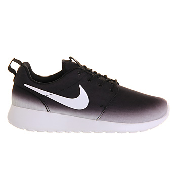 4695a773102 Nike Roshe Run Black White Fade Exclusive - Unisex Sports