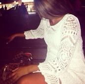 dress,white,aztec,short