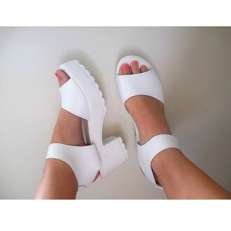 shoes white cute tumblr platform shoes