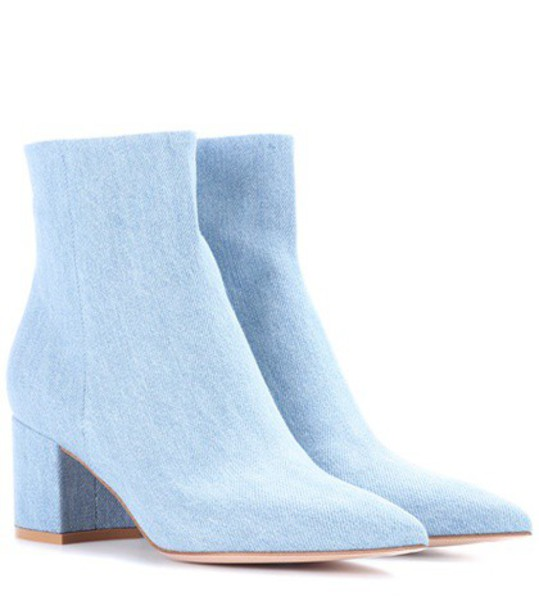 Gianvito Rossi ankle boots blue shoes