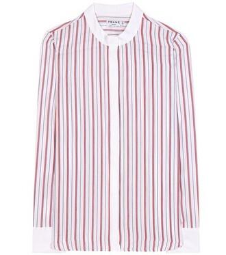 shirt classic silk white top
