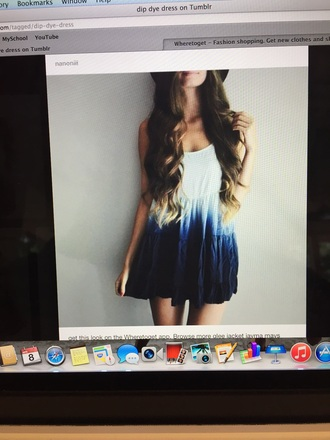 dress dip dye blu baby doll