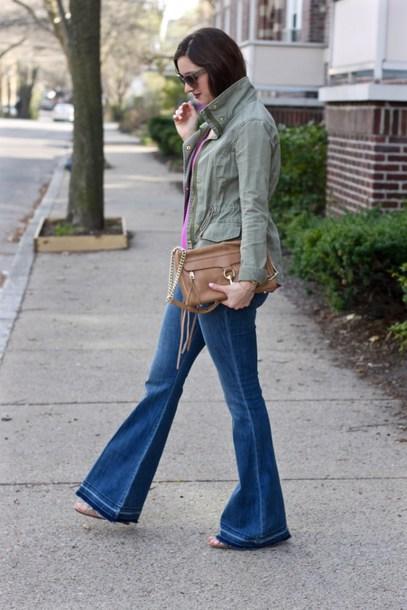 lamariposa blogger jacket top jeans bag sunglasses jewels