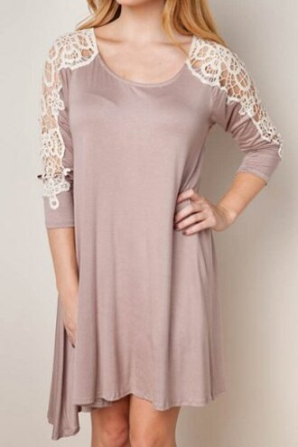 dress lace summer fashion style cute casual oversized flowy long sleeves