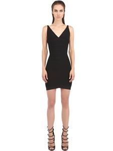 Neck spandex dress
