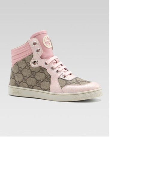 shoes pink high top sneakers gg gucci wheretoget. Black Bedroom Furniture Sets. Home Design Ideas