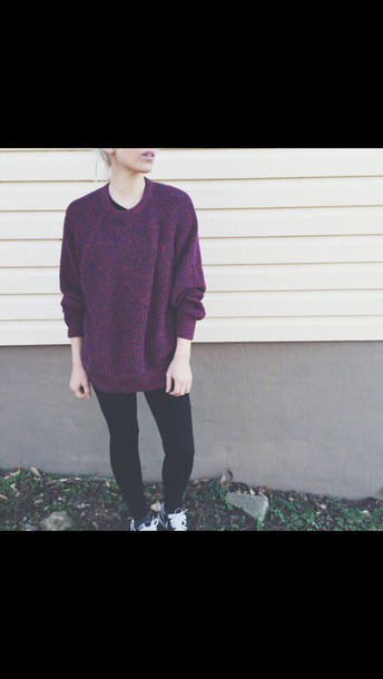 sweater burgundy sweater