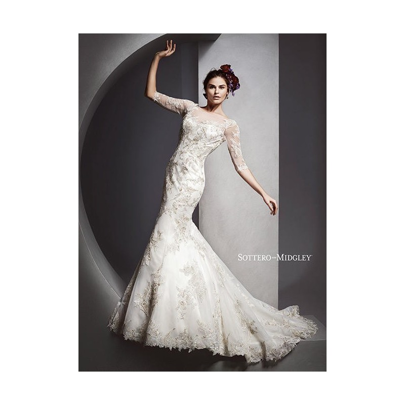 White/Silver Accent Sottero and Midgley by Maggie Sottero Vivyana - Brand Wedding Store Online