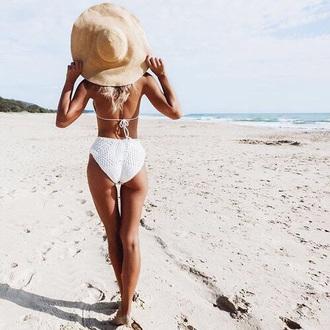 swimwear crochet bikini white bikini