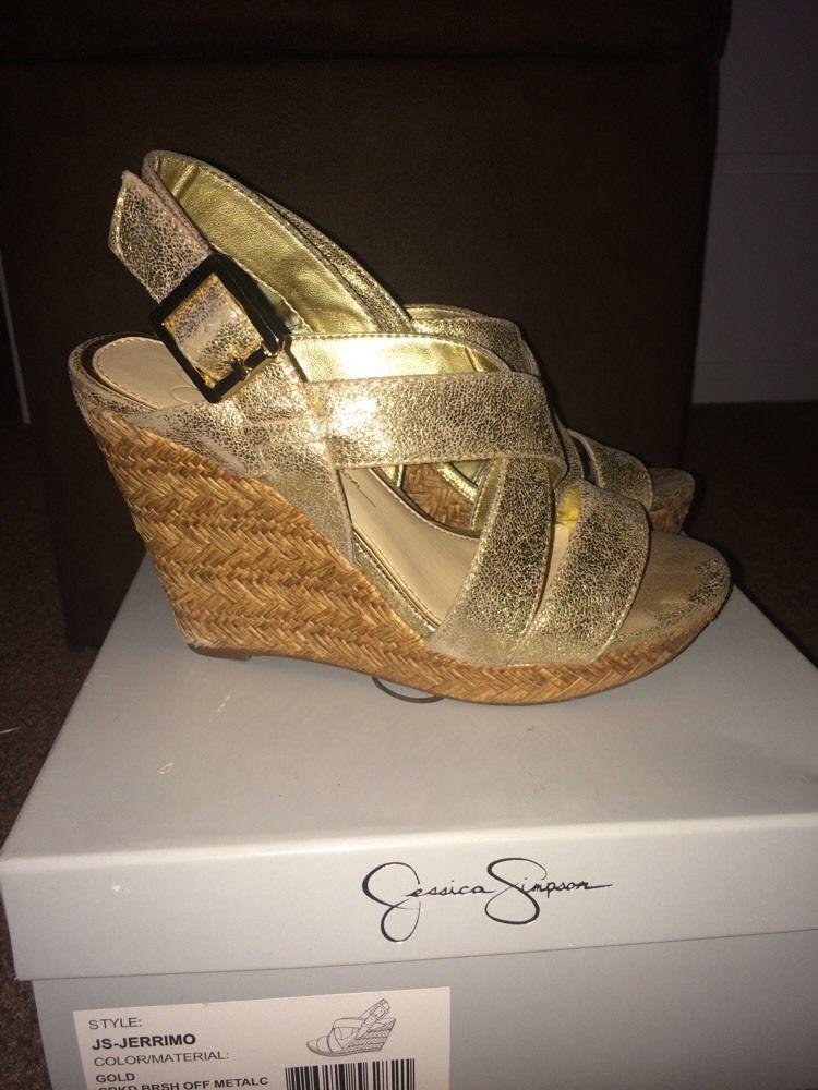 Jerrimo Simpson Sandal Size Gold 6m Jessica Wedge QreWdBECxo