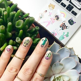 t-shirt yeah bunny cactus cacti nails plants are firends