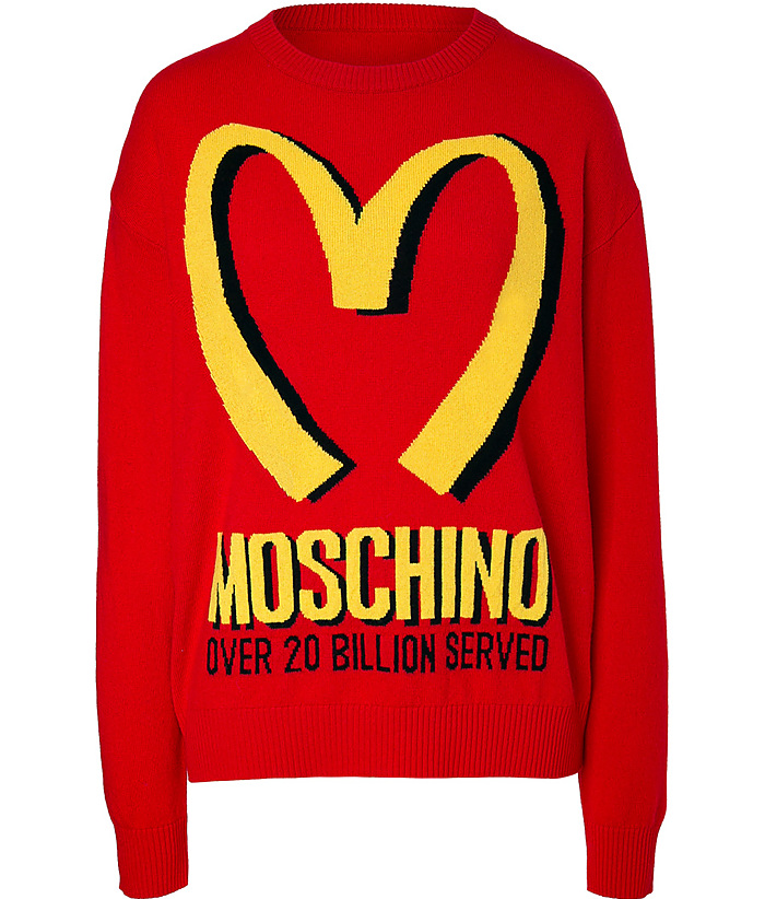 Cashmere fast food pullover