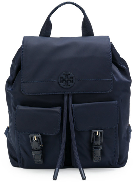 women backpack blue bag