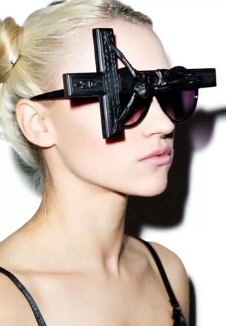 sunglasses black cross jesus