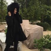 coat,shiva safai,celebrity,black coat,sweater,black sweater,pants,black pants,winter sweater,winter outfits,winter coat,all black everything