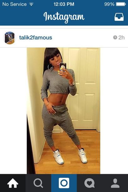 top crop tops long sleeve crop top instagram pants
