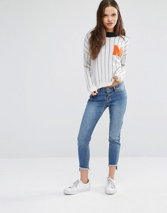 jeans cropped jeans denim asos pants