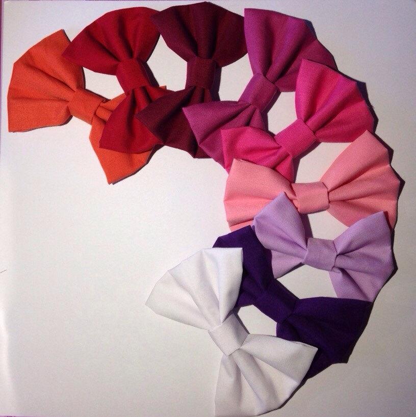 Plain hair bows