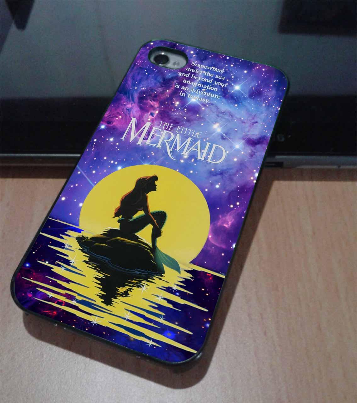 In the moonlight nebula space ariel the little mermaid