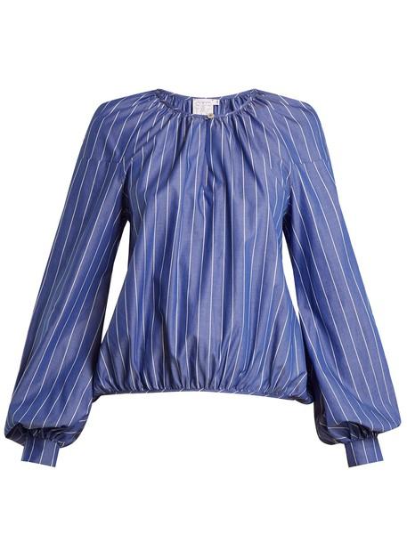 STELLA JEAN blouse cotton blue top