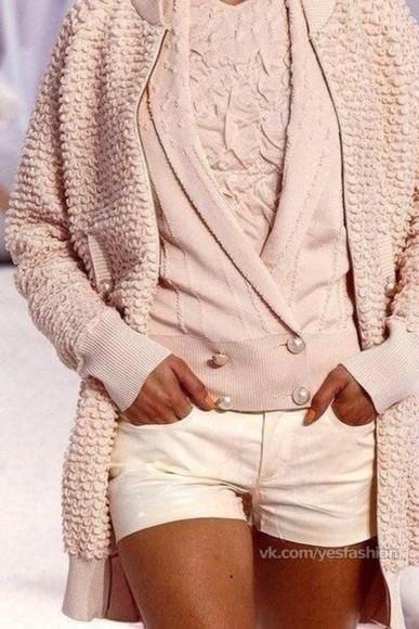 cardigan knitwear pink cardigan pink knit cardigan