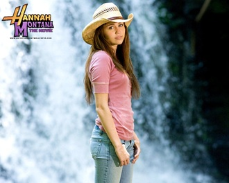 hat miley cyrus hannah montana country style straw hat