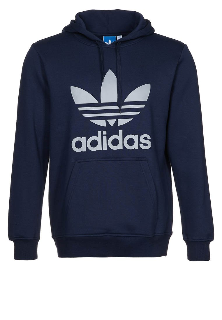 New Mens Adidas Originals Trefoil Men's Navy Hoodie Hooded Sweater L - X52698