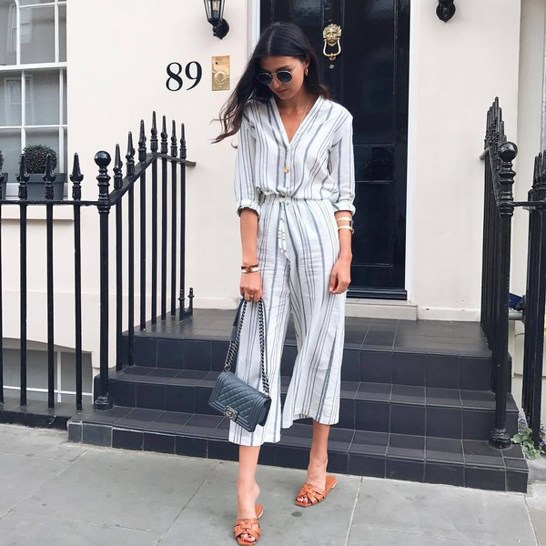3836572678bf9 shirt tumblr stripes striped shirt pants striped pants culottes shoes  sandals flat sandals slide shoes work.