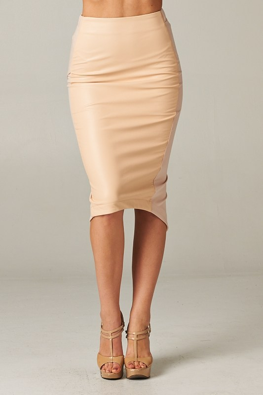 Nude Bodycon Skirt (Pre-order) | ShopHighSocietyBoutique