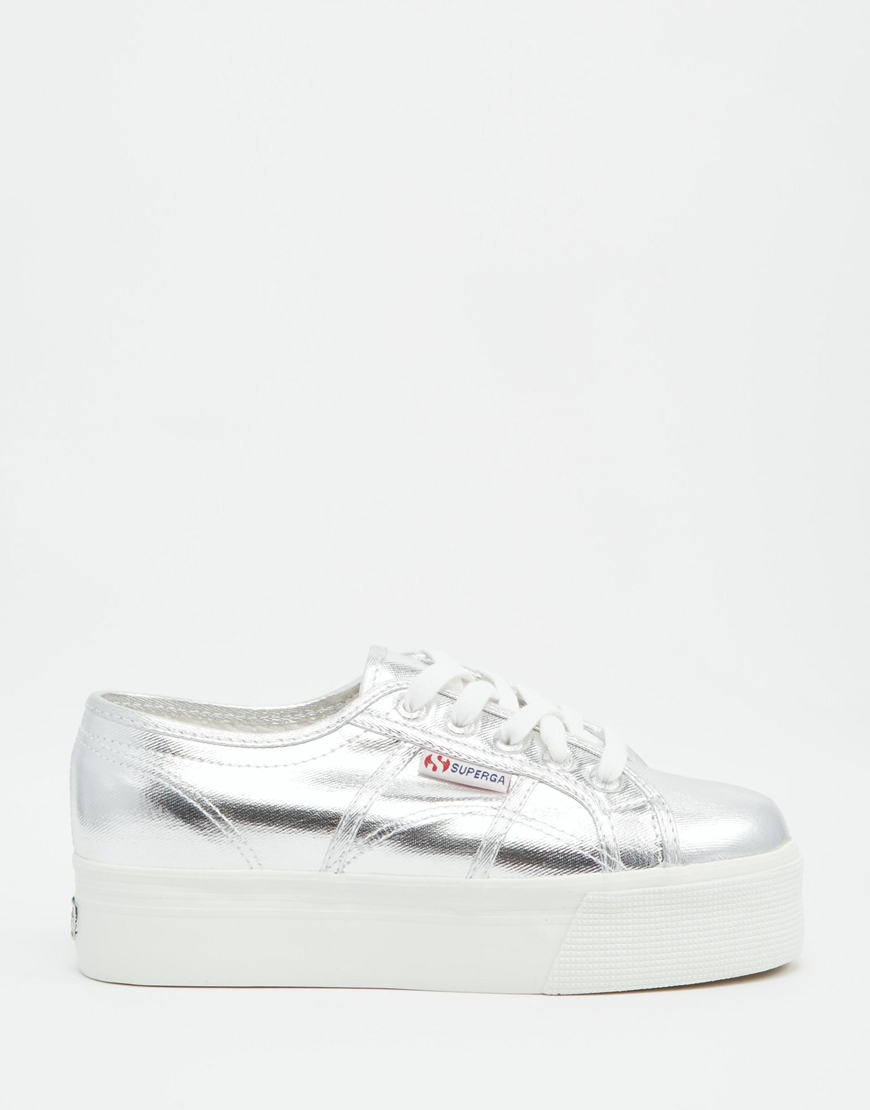 superga 2790 silver double sole flatform trainers at. Black Bedroom Furniture Sets. Home Design Ideas