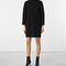 Allsaints us: womens jago dress (cinder black marl)