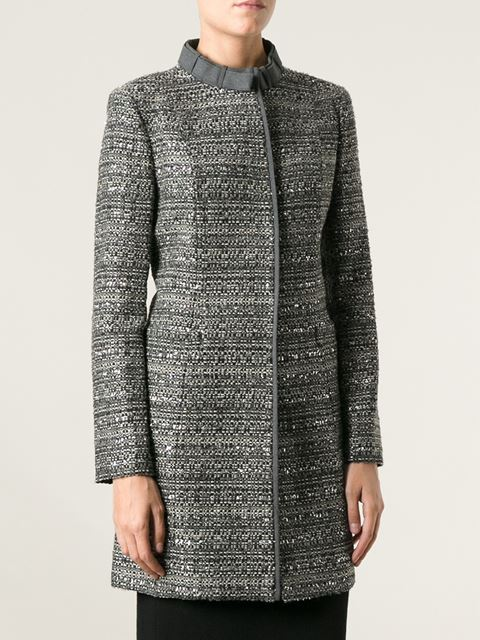 Tory burch fitted boucle coat