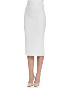 Length pencil skirt