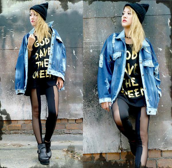 coat denim jeans blue