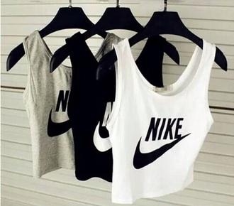 top nike grey white grunge black top style