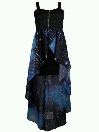dress galaxy dress blue zip up black corset wannabe prom homecoming casual