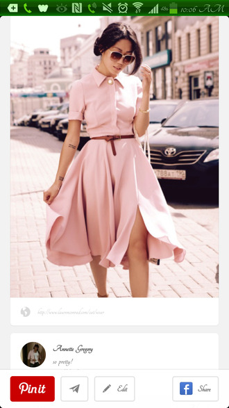 dress blush pink shirt dress