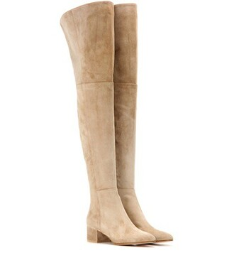 boots suede beige shoes