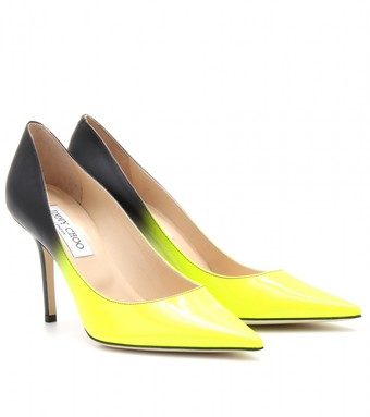 13f638844 Jimmy Choo Agnes Ombré Leather Pumps in Yellow (yellow/black) | Lyst