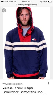sweater,blue,red,white,tommy hilfiger