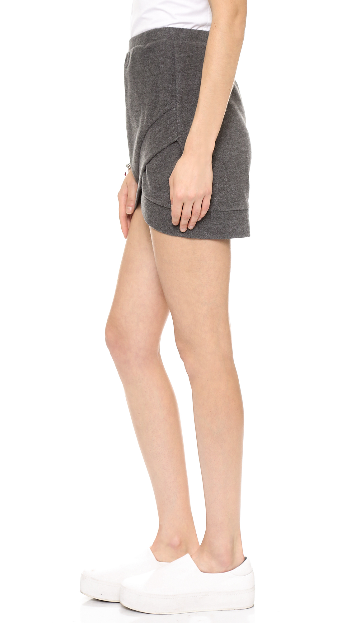 Shades of grey by micah cohen mini wrap skirt